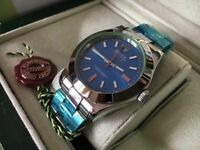 rolex milgauss blue face -inc- rolex wave box papers and cards
