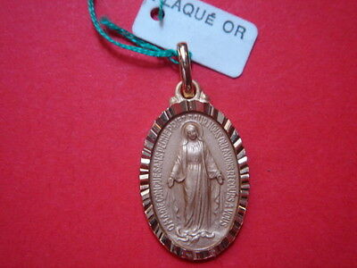 Very Belle Medal Gold Plated Virgin Marie Vintage 1960/70 New / Classic Game