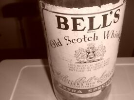 Bells 5 litre whisky bottle.