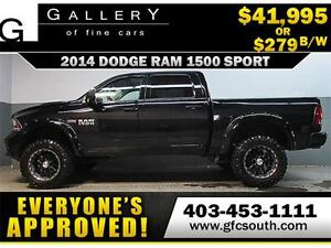 2014 DODGE RAM SPORT LIFTED *EVERYONE APPROVED* $0 DOWN $279/BW