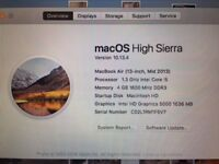 Macbook Air 2013 Core i5 4GB immaculate with box