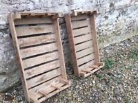 £3/each - Large number of vintage wooden trays - 76cm Long x 36cm Wide x 8cm Deep + Carry Handles