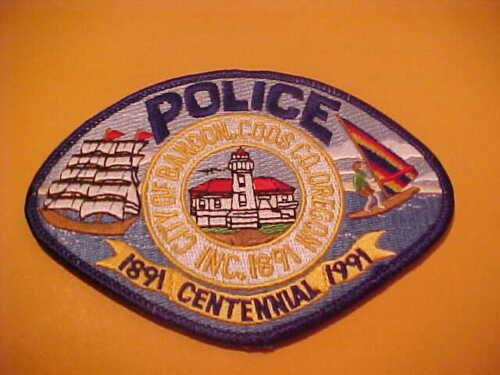 BANDON COOS COUNTY OREGON POLICE PATCH SHOULDER SIZE UNUSED