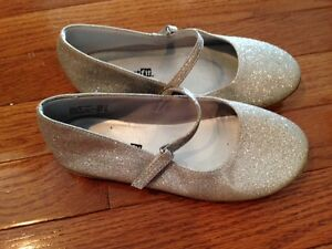 Silver sparkle shoes