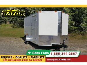2019 GATOR FERMÉE V-NOSE 7X12 SIMPLE ESSIEU