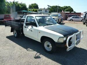 1993 Toyota Hilux RN85R White Manual Cab Chassis Townsville Townsville City Preview