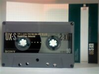 9x 1990s USED SONY TYPE 1&2 CASSETTE TAPES UX-S90, CDit100, FXII90, HF-S90, FXI60/90, EF SUPER 90