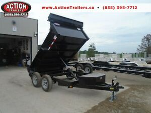 QUALITY 3.5 TON DUMP TRAILER 6X10 BED WITH LOTS OF STD FEATURES