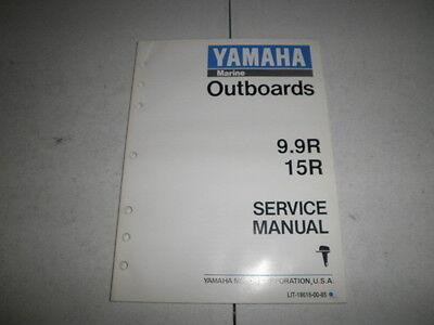 Factory yamaha outboard motor service manual 9.9R 15R 1992