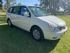 2013 Kia Grand Carnival VQ MY13 S White 6 Speed Automatic Wagon Tuggerah Wyong Area Preview