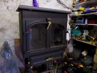 Clearview 650 Woodburner with wrap around boiler.