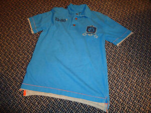 Boys Size 10-12 Blue Short Sleeve Polo Style Gap T-Shirt