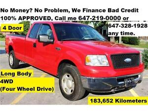 2006 Ford F-150 XLT 4-Door 4X4 FINANCE 100% Approved 183,000 KM