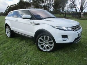 2011 Land Rover Range Rover Evoque L538 MY12 TD4 Coupe CommandShift Pure White 6 Speed Gepps Cross Port Adelaide Area Preview