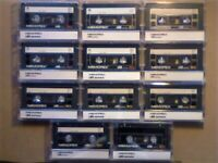JL NOW VERY RARE 11x MEMOREX DB 60 & 90 CASSETTE TAPES 1985-86. £10 & FREE P&P JOB LOT OR SOLO SALES