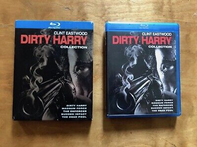 Dirty Harry Collection Blu ray*Warner Bros*5 Movies*Slipcover*Clint Eastwood*