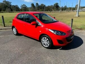 2012 Mazda 2 DE MY12 Neo Red 4 Speed Automatic Hatchback West Gosford Gosford Area Preview