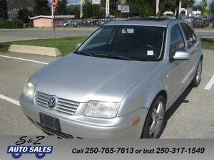 2001 Volkswagen Jetta GLS KELOWNA 1 OWNER NO ACCIDENT!