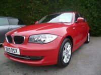 BMW 1 SERIES 2.0 118D SE 5d 141 BHP (red) 2010