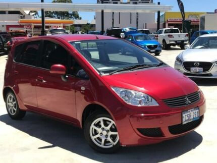 2007 Mitsubishi Colt RG MY07 LS Red 1 Speed Constant Variable Hatchback
