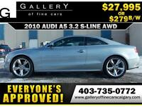 2010 Audi A5 S-LINE QUATTRO $279 bi-weekly APPLY NOW DRIVE NOW