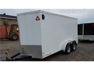 "Enclosed Cargo Trailer -7x16 CargoTrac plus 18"" V-Nose, tandem"
