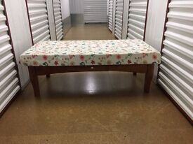 Upholstered coffee table - £15