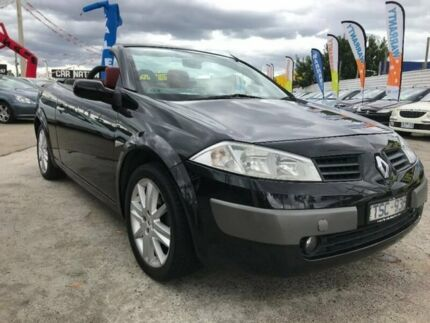 2005 Renault Megane II E84 Dynamique LX Black 6 Speed Manual Cabriolet Maidstone Maribyrnong Area Preview