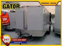 Q-21-5-(B7X12-6TA)REMORQUE FERMÉ V-NOSE ENCLOSED TRAILER CARGO