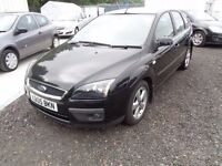 2005 FORD FOCUS ZETEC CLIMATE 1596cc BLACK 5 DOOR 78,000 MILES MOT: 16/08/17 *EXCELLENT CONDITION *