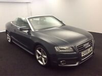 2009 AUDI A5 CABRIOLET 2.0 T FSI 211 S LINE CONVERTIBLE AUTOMATIC PETROL 8 GEARS MOT NOT 3 SERIES E