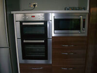 Electric CDA built in wall oven and Microwave.