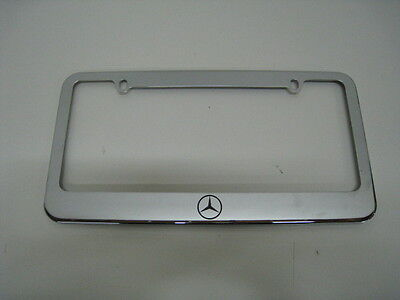 MERCEDES-BENZ LOGO STAINLESS STEEL LICENSE PLATE FRAME ML/GL/GLA/GLC/GLE/G-Class