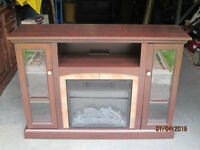 Entertainment Unit/TV Stand with Electric Fireplace