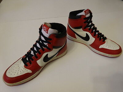 Vintage 80s OG NIKE 1985 AIR JORDAN 1 Wing Michael NBA Basketball Shoes US 11.5