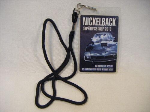 Nickelback Lanyard Darkhorse Tour 2010 Pass Backstage Laminated H5