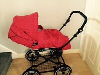 Baby style prestige red pram immaculate