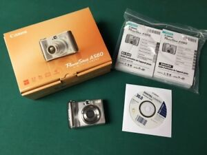 CANON POWERSHOT A560 7.1 MEGA PIXEL DIGITAL CAMERA SILVER