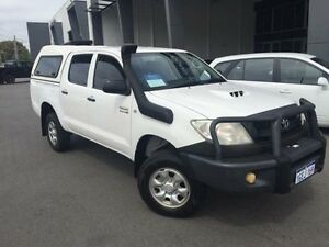 2010 Toyota Hilux KUN26R 09 Upgrade SR (4x4) Glacier White 5 Speed Manual Dual Cab Pick-up Beckenham Gosnells Area Preview