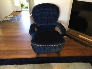 estate sale - blue velvet chairs