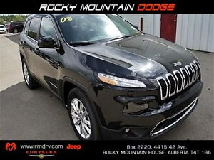 2016 Jeep Cherokee Limited 4X4 LEATHER BACK UP CAMERA