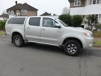2008 TOYOTA HI-LUX INVINCIBLE D-4D 4X4 D/C IN SILVER WITH FULL TOYOTA SERVICE HI
