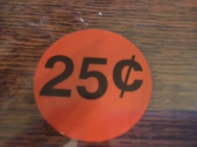 Original Aa 25 Cent .25 Price Decal Stickers Gumball Candy Vending Machine