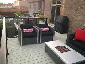 2 outdoor patio chairs Cambridge Kitchener Area image 1