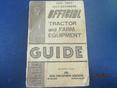 Used Original Official Tractor Farm Equipment Guide Fall 1964