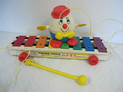 VINTAGE FISHER PRICE #870 PULL A TUNE 1964 XYLOPHONE & HUMPTY DUMPTY  #736