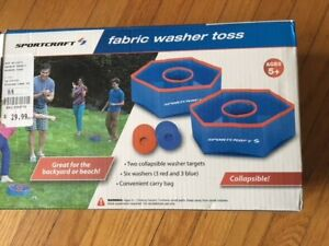 Washer Toss - safe fabric material (new in box)