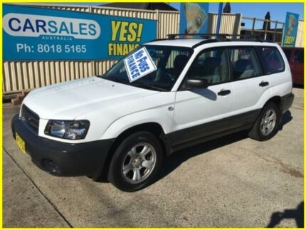 2003 Subaru Forester 79V MY03 X AWD White 4 Speed Automatic Wagon