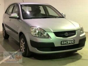 2009 Kia Rio JB MY09 LX Silver Manual Hatchback Campbelltown Campbelltown Area Preview