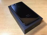 new condition iphone 7 jet black factory unlocked 128 GB apple warranty till march 2018